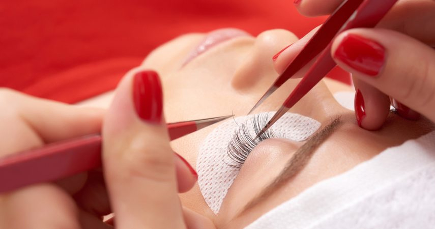 Eyelash extensions must be applied by a professional.
