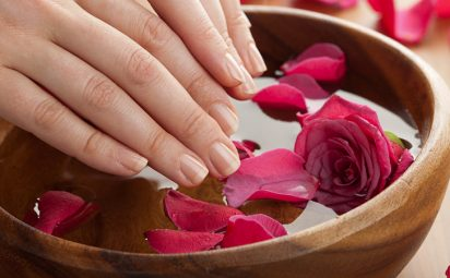 A DIY hand soak can help strengthen nails.