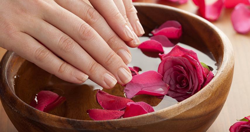 A DIY hand soak can help strengthen nails.
