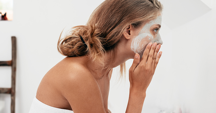 Regularly applying a face mask can help with oily skin