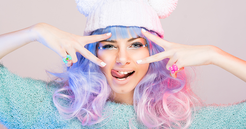 Is it possible to achieve unicorn hair like this on your own?