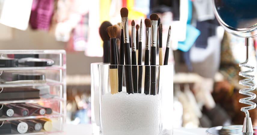 We've rounded up some of our favorite practical and pretty makeup storage ideas