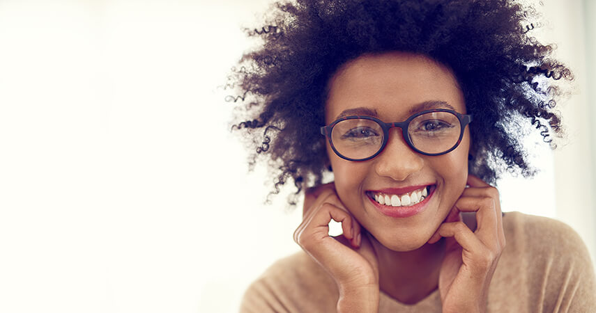 Glasses can cause makeup around the eye and nose area to fade quickly, so it's always recommended you go for the longest-wearing products available.