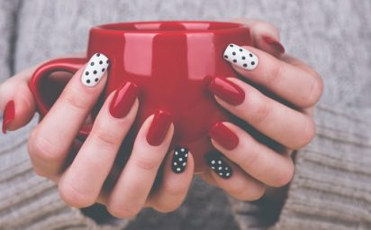 easy nail art ideas including polka dot nails