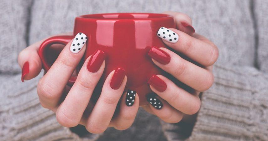 easy nail art ideas including polka dot nails