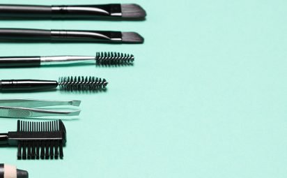 Eyebrow brush grooming tools