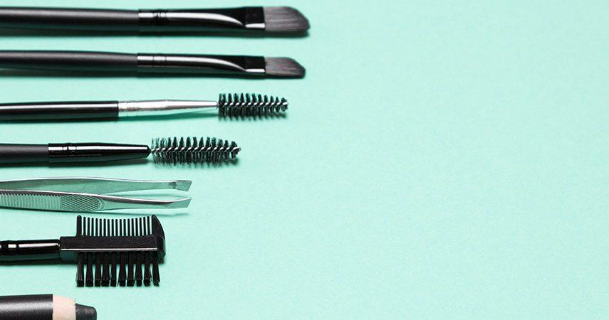 Eyebrow brush grooming tools