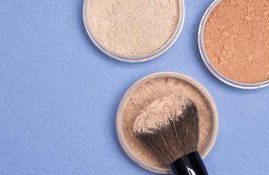 Makeup finishing powders
