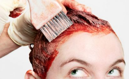 Someone dying their hair.