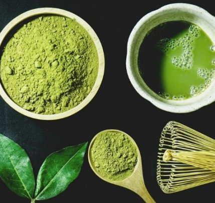 A mixture of matcha.